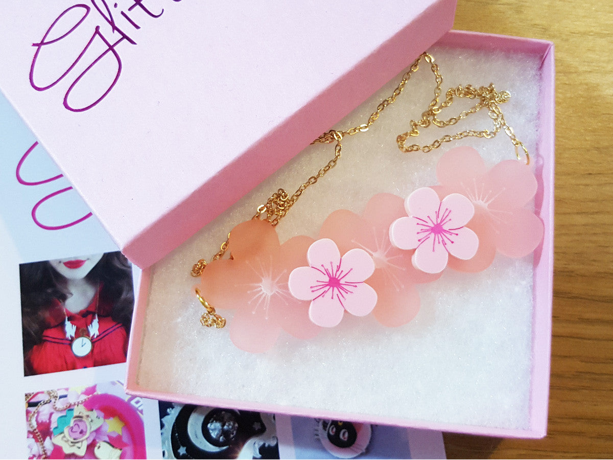 Cherry Blossom Necklace - Glitterbomb - 2