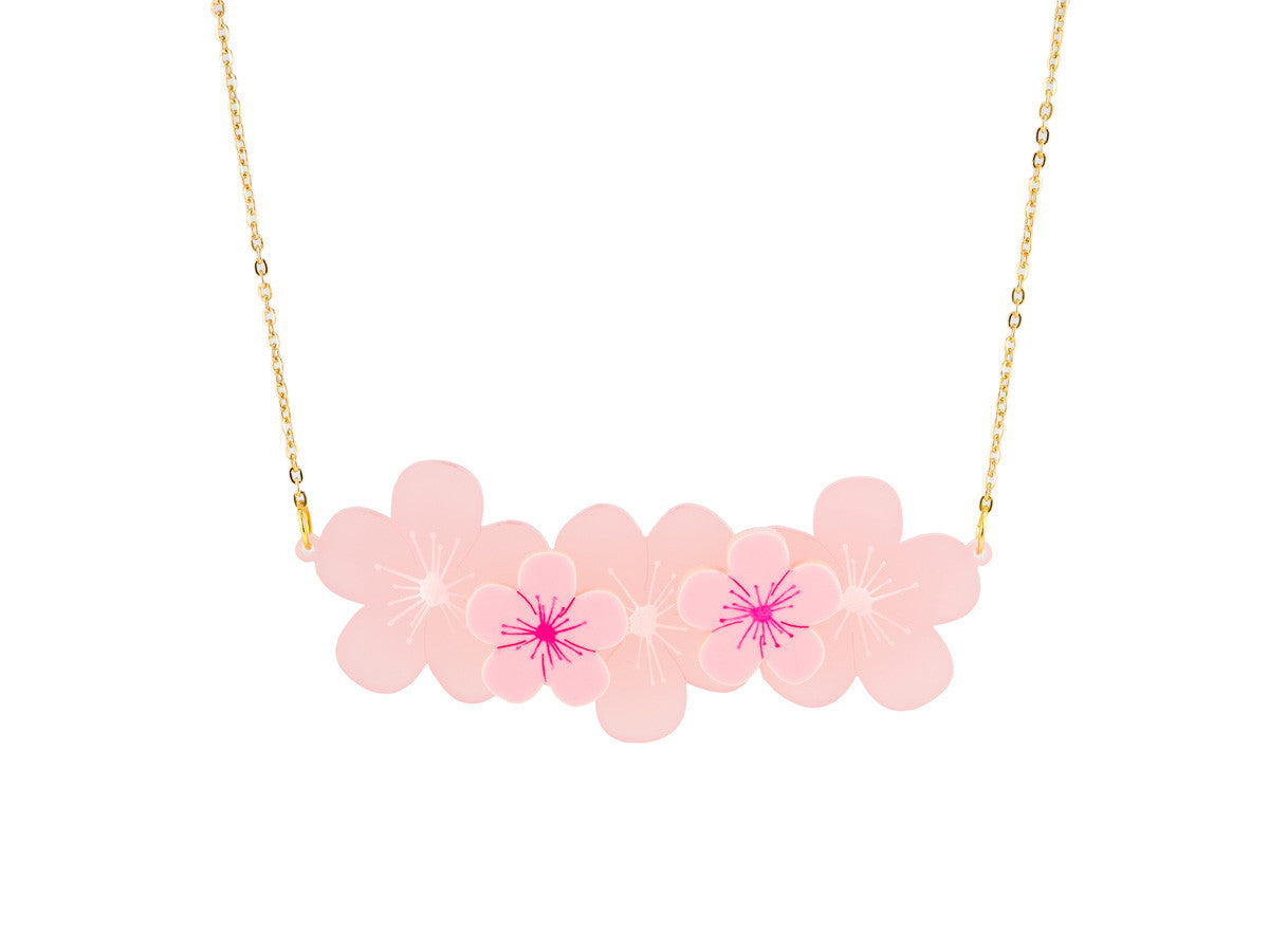 Cherry Blossom Necklace - Glitterbomb - 1