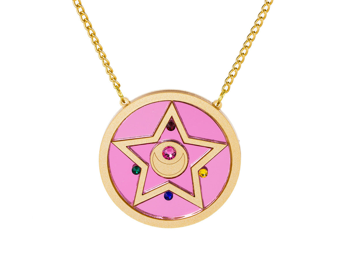 Crystal Star Compact Necklace -  - 1