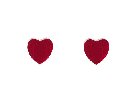 Gem Earrings (Hearts)
