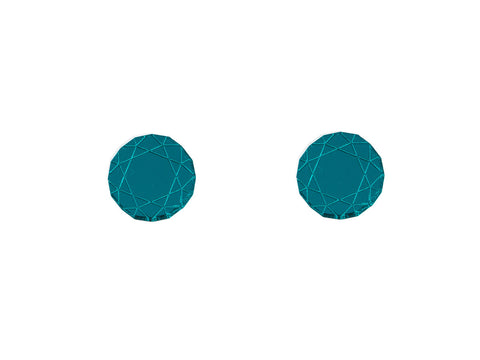 Gem Earrings (Teal)
