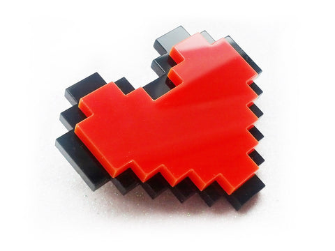 Pixel Heart Brooch