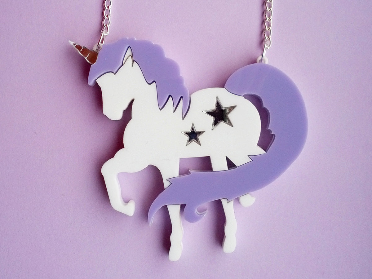 Unicornzzz Lilac Necklace -  - 2