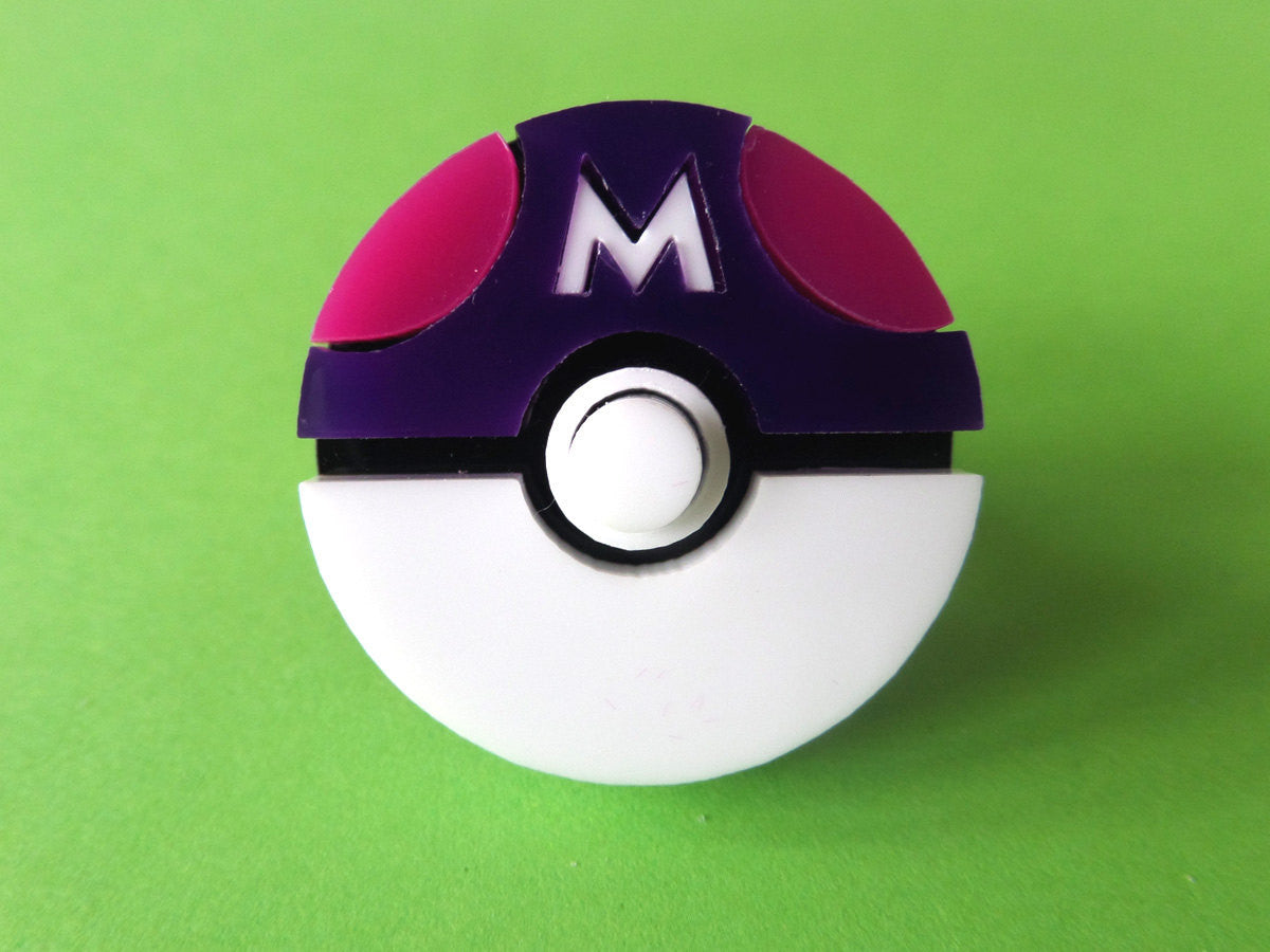 Pokéball (Master Ball) Ring - Glitterbomb - 1