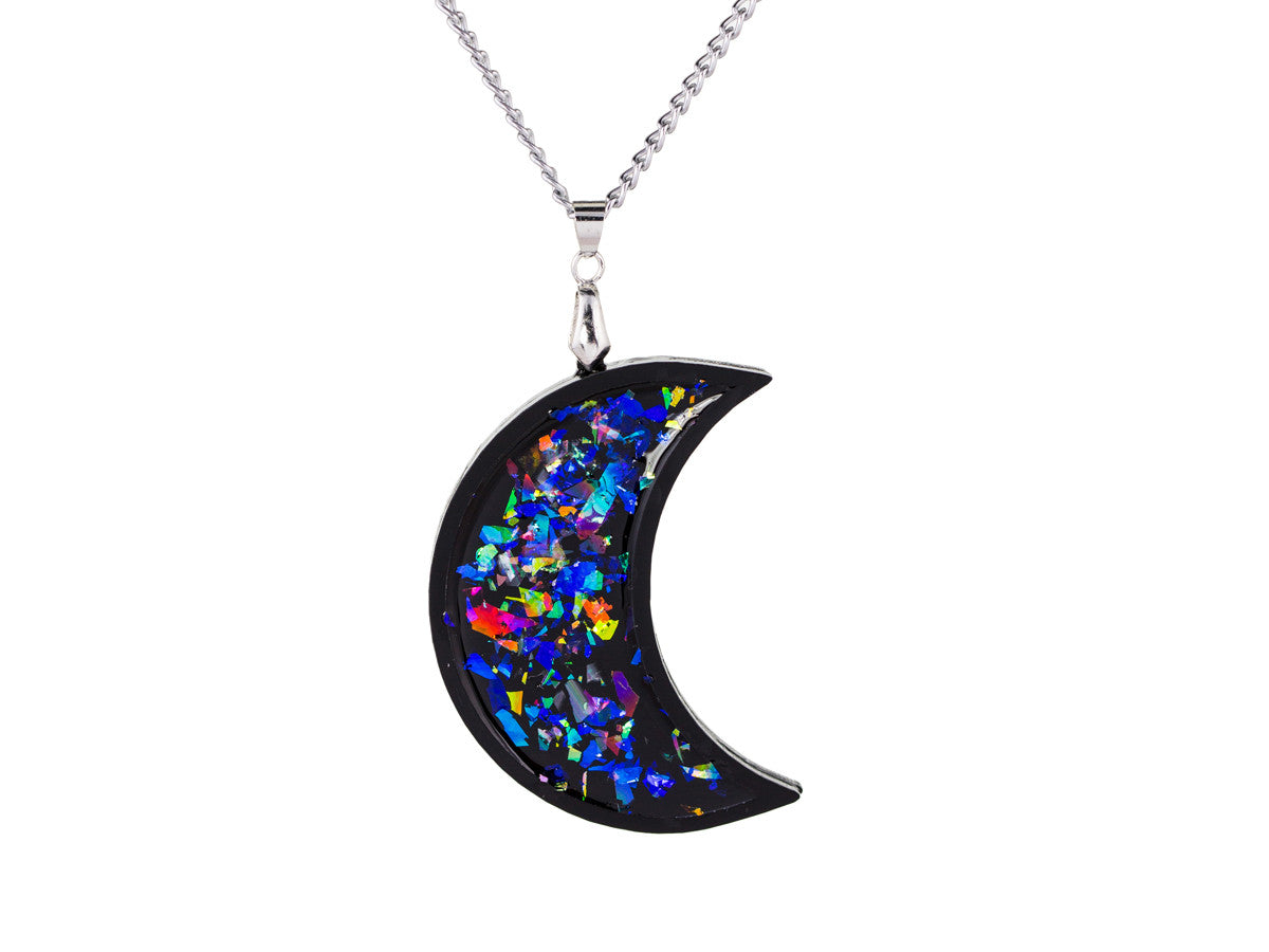 Iridescent Moon necklace -