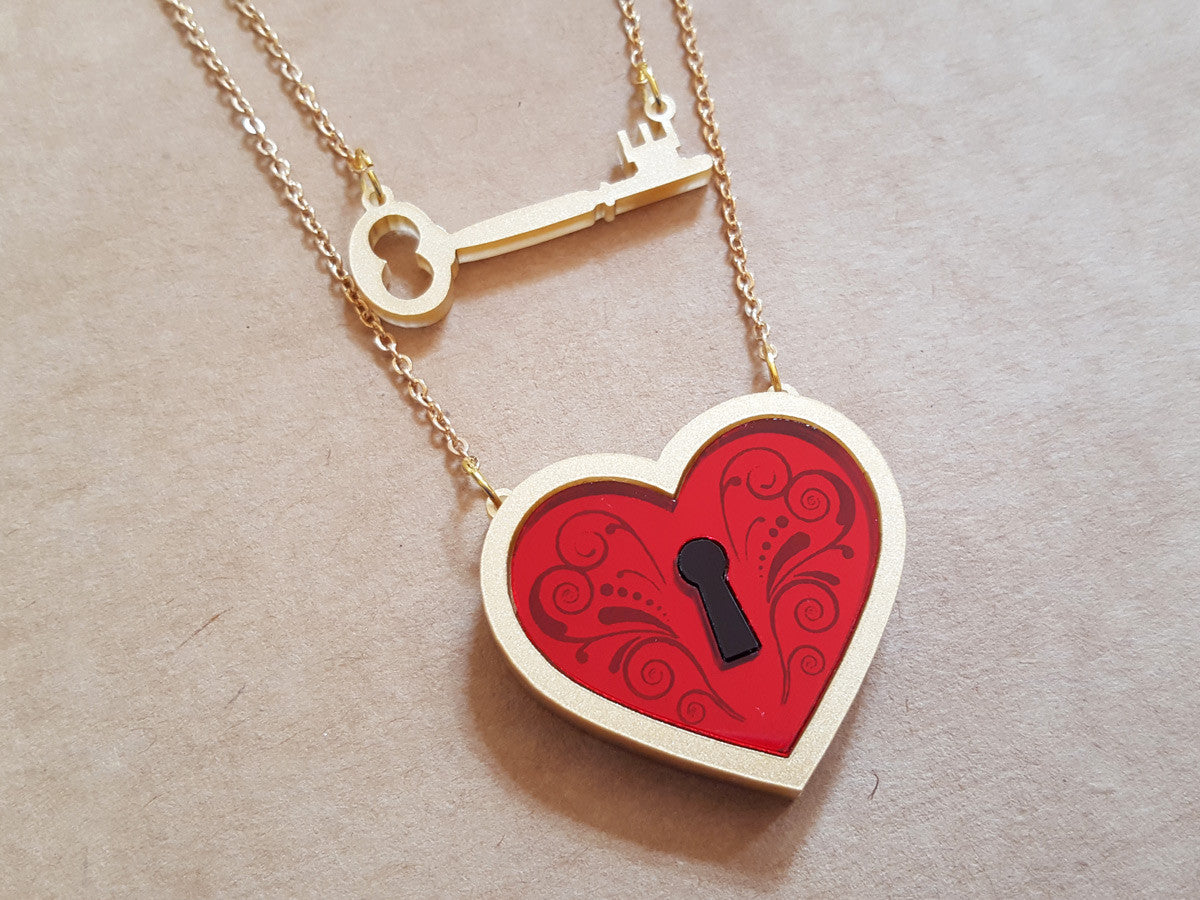 Heart Locket Necklace - Glitterbomb - 1