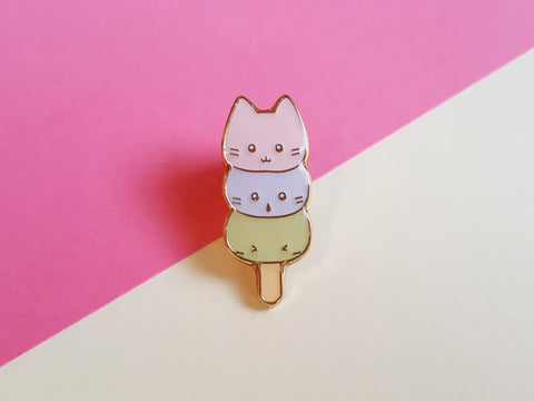 Mochi Kitties Enamel Pin