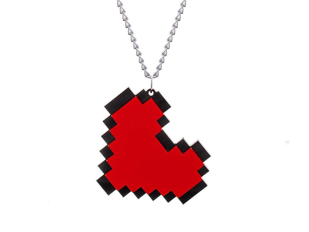 Pixel Heart Necklace -  - 1