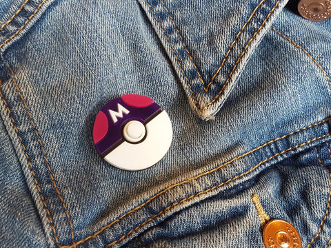 Pokéball (Master Ball) Brooch (LIMITED)