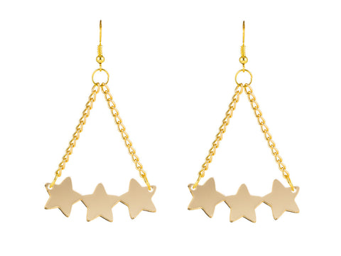 Star Cluster Gold Earrings
