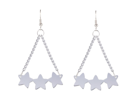 Star Cluster Silver Earrings