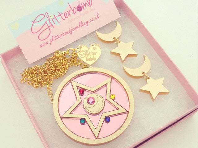 Sailor Moon Earrings (Metallic) -  - 2