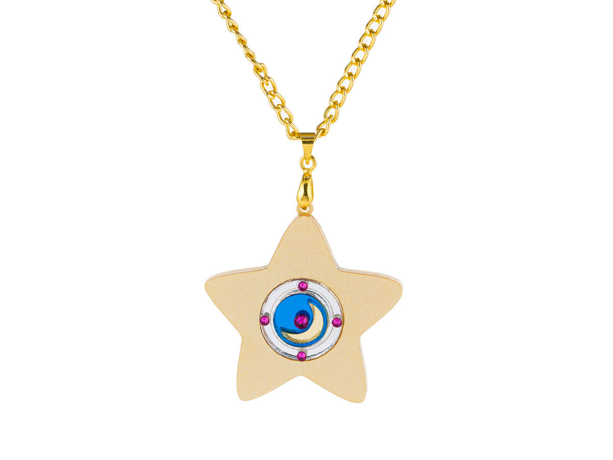 Star Locket Necklace -