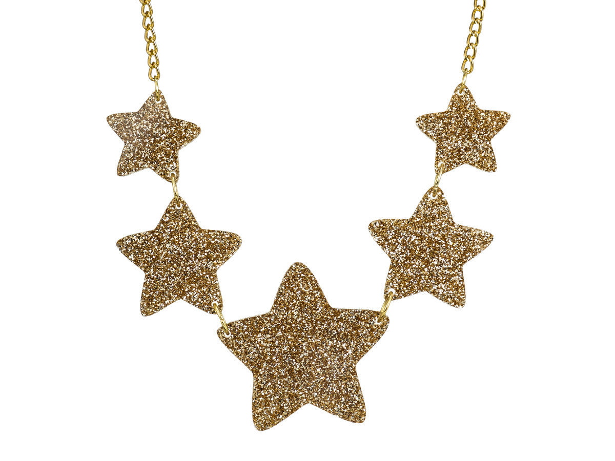 Twinkle Twinkle Little Stars Necklace (gold)