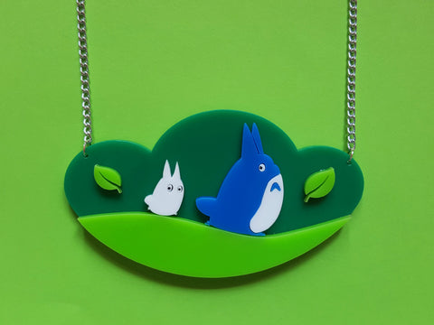 Chu and Chibi Totoro's Journey Necklace