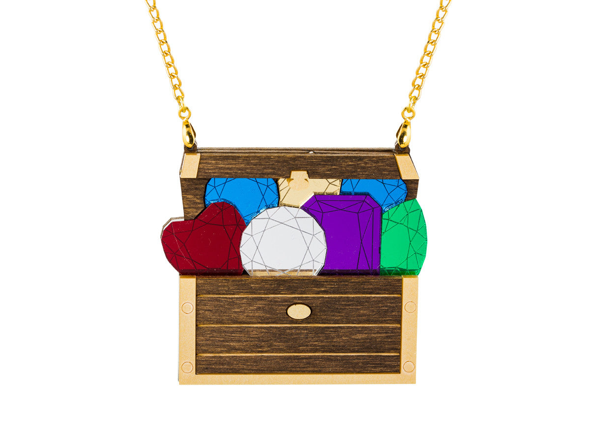 Treasure Chest Necklace - Glitterbomb