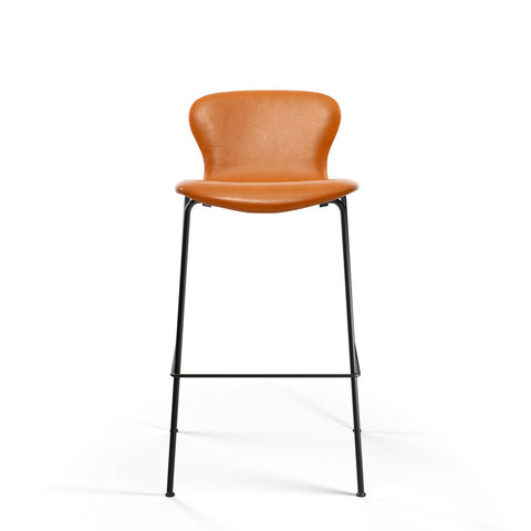 Bruunmunch Furniture - PLAYchair Bar LowBack barstol cognac læder