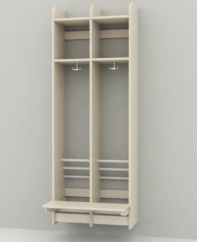 Troldegarderobe 2 sektion