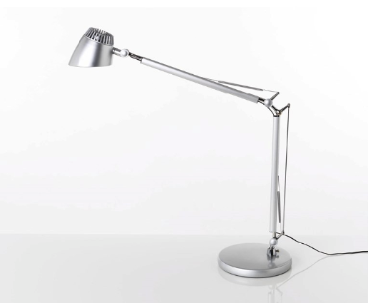 Valencia led bordlampe silver