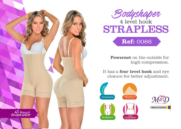 Bodyshaper 4 level hook strapless Ref: 0086