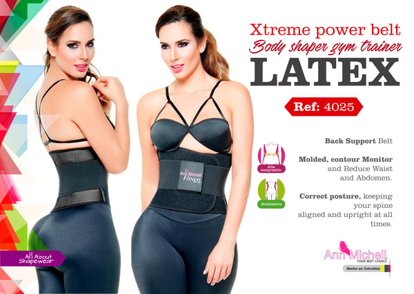 Xtreme power belt body shaper gym trainer with latex Ref: 4025