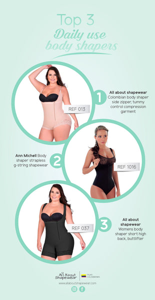 Not Sure which Daily Use Body Shaper to try? See Our TOP 3 Garments