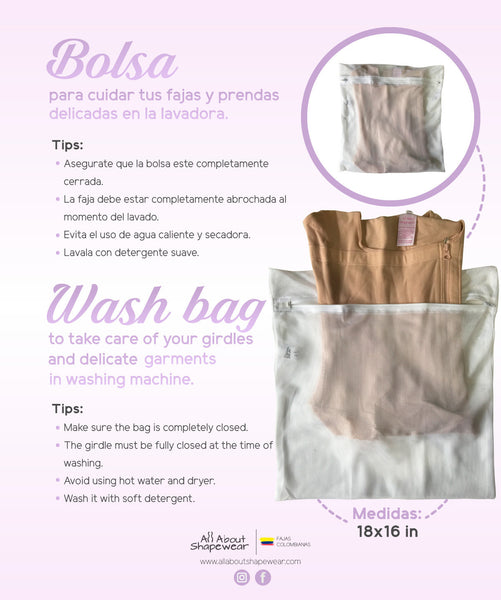 How to use your Wash Bag so that you can preserve your compression garments when using a Washing Machine