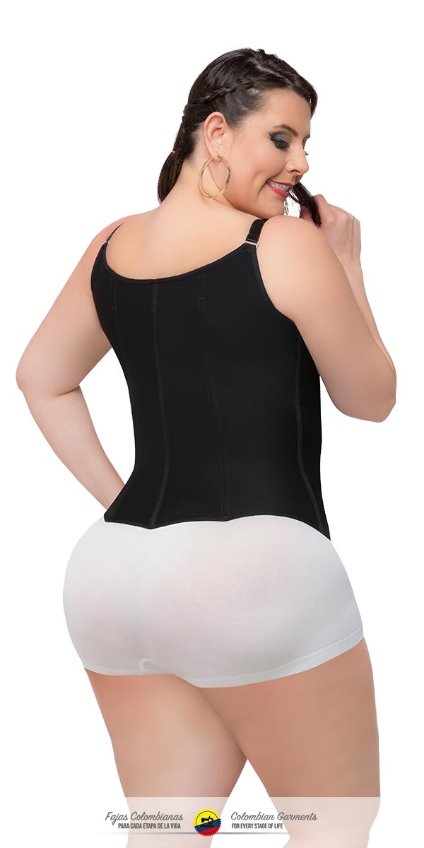 Colombian Vest Waist Shaper with Thin and Adjustable Straps Ref 023 - Fajas Colombianas Shapewear