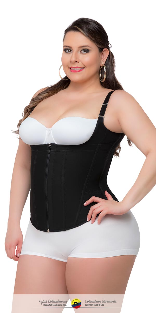 78072f912 Fajas Colombianas-Colombian Vest Waist Shaper with Thin and Adjustable  Straps Ref 023 - Fajas