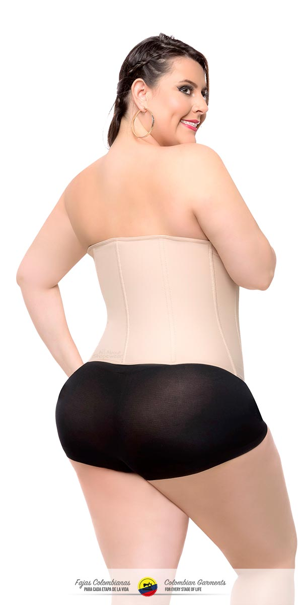 Fajas Colombianas-Colombian Waist Shaper Clip and Zip High Compression- Faja Cinturilla Ref 025 - Fajas Colombianas Shapewear