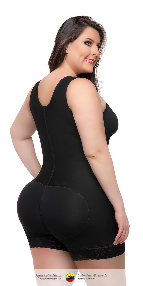 Fajas Colombianas Full Body Garment Short Style With Bra & Back Coverage 043 - Fajas Colombianas Shapewear