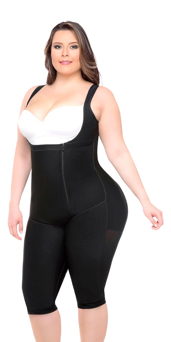 Full Body Shaper Braless, Buttlift & Capri Length Style Ref - 050 - Fajas Colombianas Shapewear