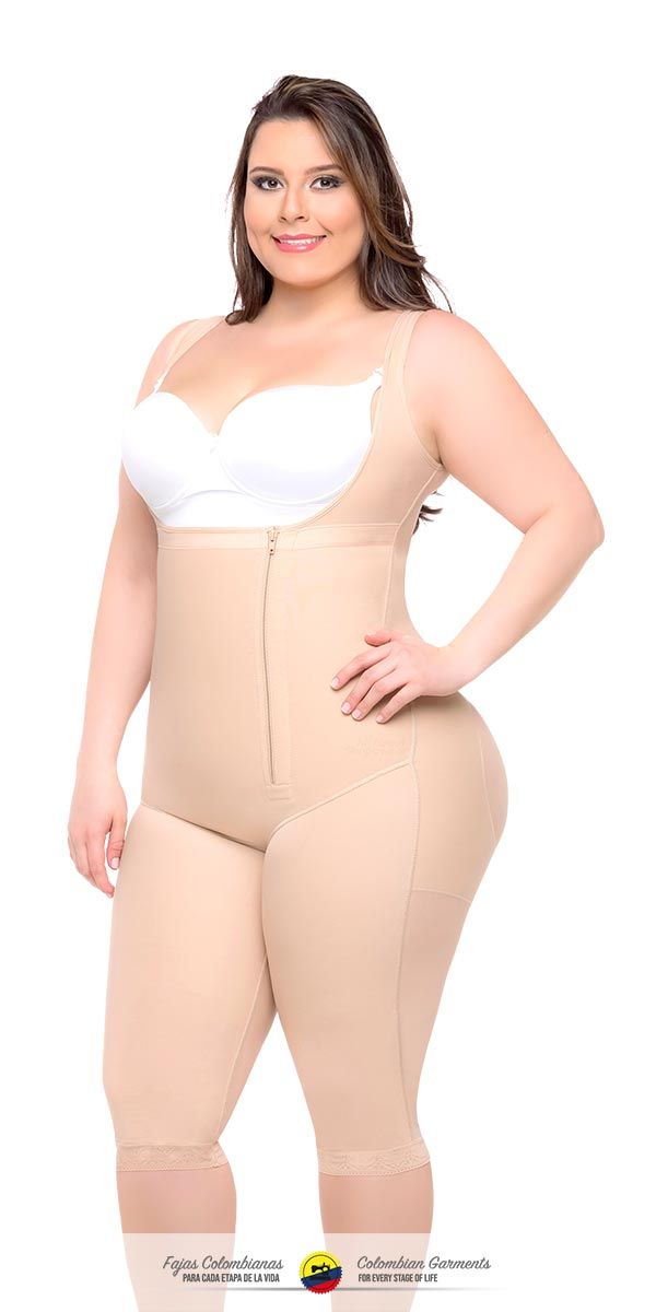 79b69bf70dadd Full Body Girdle Knee Length Style With Back Coverage 050 - Fajas ...