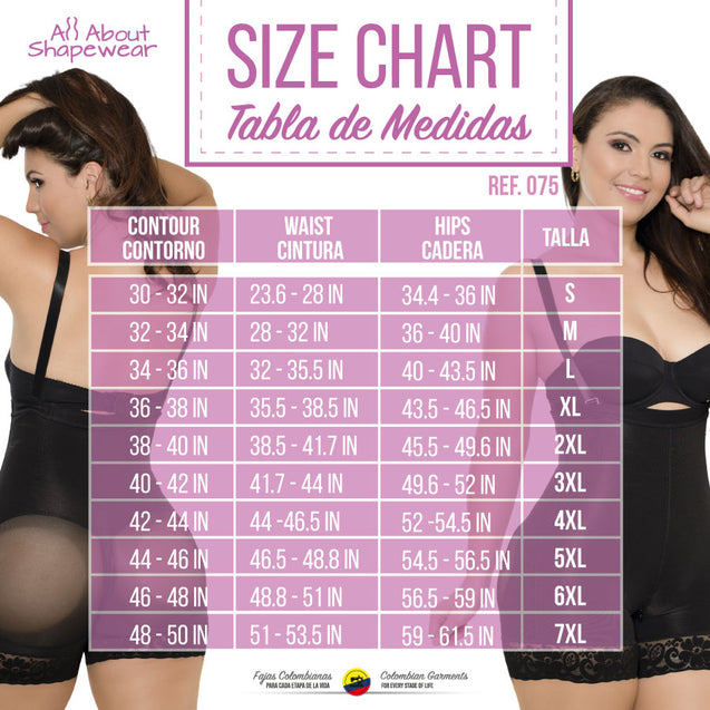 Fajas Colombianas Seamless High Hugger Bodysuit No Zipper & Strapless Ref - 075 - Fajas Colombianas Shapewear