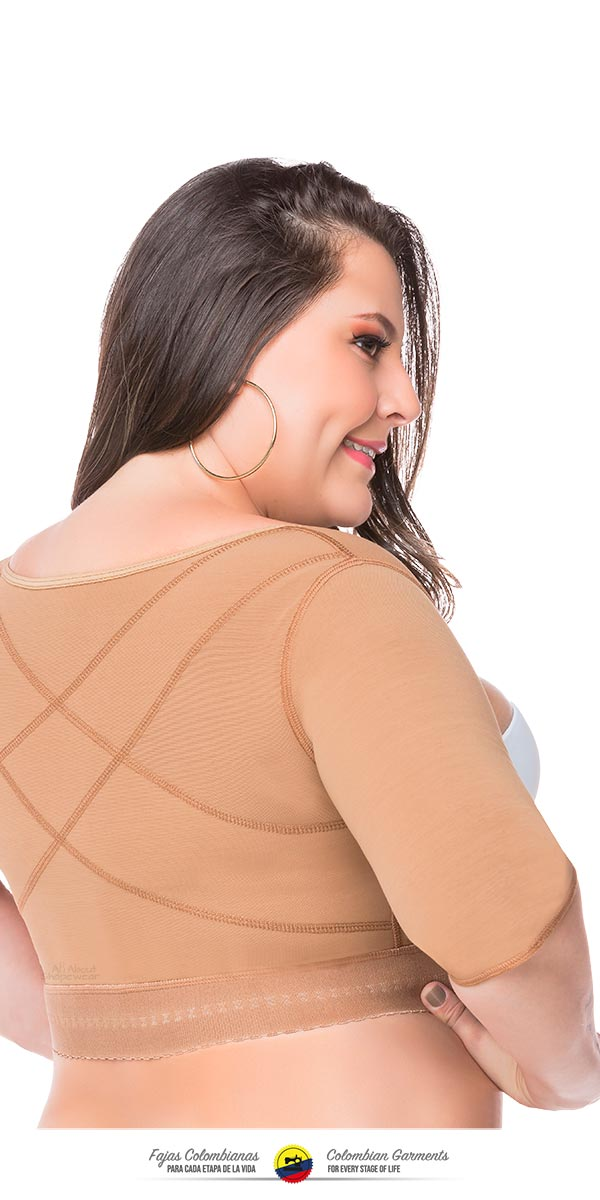 Fajas Colombianas Post Surgical Compression Garments Arm Vest with Compression Sleeves Ref 088 - Fajas Colombianas Shapewear