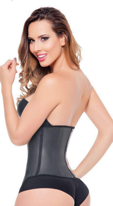37b0f8dfe1 Fajas Colombianas Ann Michell Invisible Latex Waist Trainer with Invisible  Flat Front Zipper - Ref 2037