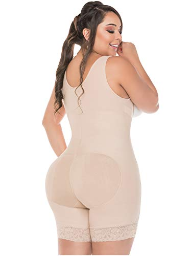 Fajas Colombianas Salome Full Body Shaper for Women For Every Day Use Beige REF. 0217 - Fajas Colombianas Shapewear