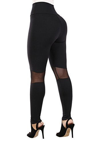 Leggings Colombianos Curvify Elegant High Waisted Womens Leggings | Supplex Butt Lift Leggings Mujer Black REF. L115 - Fajas Colombianas Shapewear