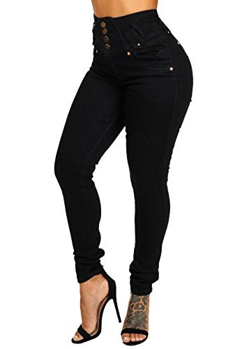 Pantalones Colombianos ModaXpressOnline Butt Lifting Ultra High Waisted Skinny Leg Colombian Design Denim Jeans REF. 10914L - Fajas Colombianas Shapewear