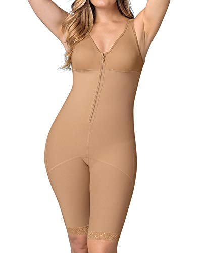 Fajas Colombianas Leonisa Women's Full Bodysuit Slimming Shaper, Natural tan. - Fajas Colombianas Shapewear