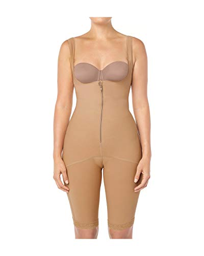 Fajas Colombianas Leonisa Full Body Womens Braless Body Shapewear with High Compression Thighs Control Slimmer Beige - Fajas Colombianas Shapewear