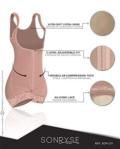 Fajas Colombianas Sonryse Firm Shapewear for Women Mocha Tummy Control REF. 211BF - Fajas Colombianas Shapewear