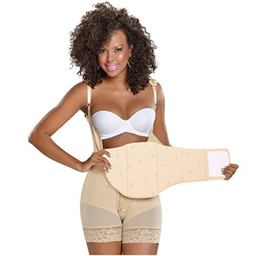 M&D 0101 Tabla Abdominal Board After Liposuction 360 Lipo Foam Ab Post Surgery Flattening Compression Accessories Beige - Fajas Colombianas Shapewear
