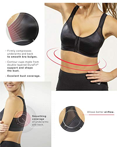 Fajas Colombianas Leonisa Back Support Posture Corrector Wireless Bra Adjustable Front Closure Beige - Fajas Colombianas Shapewear