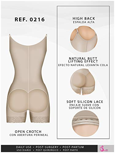 Fajas Colombianas Salome Reductoras y Moldeadoras Postparto Body Shaper for Women Beige REF. 0216 - Fajas Colombianas Shapewear