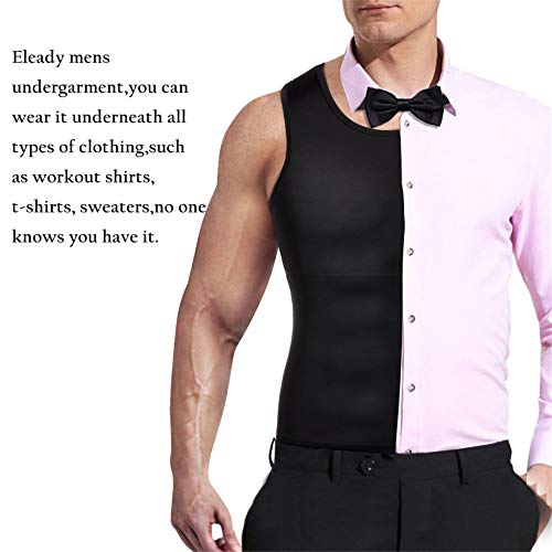 Mens Compression Shirt Slimming Body Shaper Vest Workout Tank Tops Abs Abdomen Undershirts - Fajas Colombianas Shapewear
