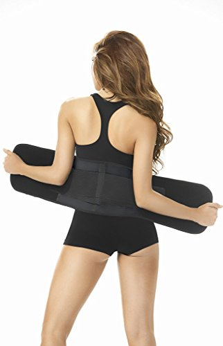 Waist Training Exercises Ann Chery Latex Fit Women Waist Trimmer Belt for Weight Loss Lumbar Support,US S/EU 32 (Fits 27-28 Inch Waist),Black REF. 2051 - Fajas Colombianas Shapewear
