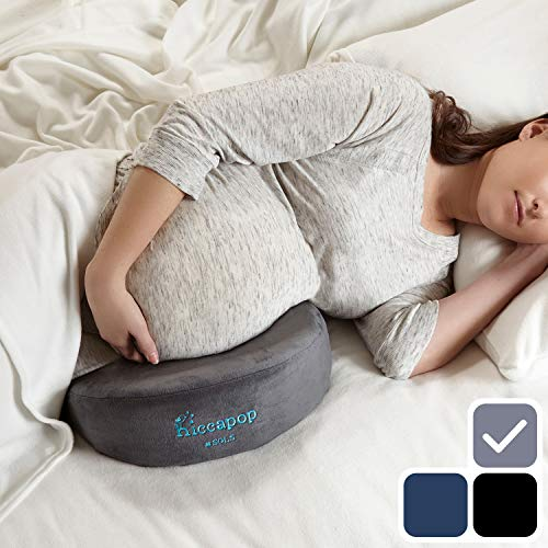 hiccapop Pregnancy Pillow Wedge for Maternity | Memory Foam Maternity Pillows Support Body, Belly, Back, Knees - Fajas Colombianas Shapewear