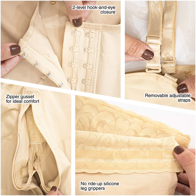 Fajas Colombianas M&D Reductoras Backless Body Shaper Girdles for Women Beige REF. 0066 - Fajas Colombianas Shapewear