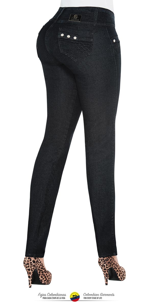 c0bb445caafe5 Colombian Jeans Equilibrium High Waisted Black Skinny Jean for women -  J8588 - Fajas Colombianas Shapewear